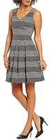 Antonio Melani Vitale Stripe Novelty Dress