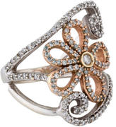 Effy Jewelry Two-Tone Diamond Floral Ring