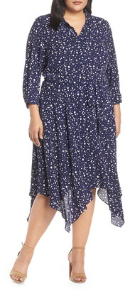 Eliza J Handkerchief Hem Midi Dress