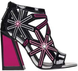 Kat Maconie Jasmin Sandals In Black Leather