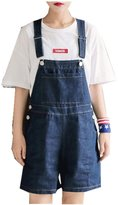ACE SHOCK Women's Summer Relaxed Straight Denim Shorts Jeans Overalls Plus Size