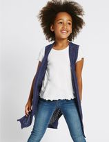 Marks and Spencer Cotton Rich Longline Cardigan (3-14 Years)