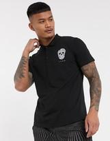 Bolongaro Trevor skull polo shirt-Black