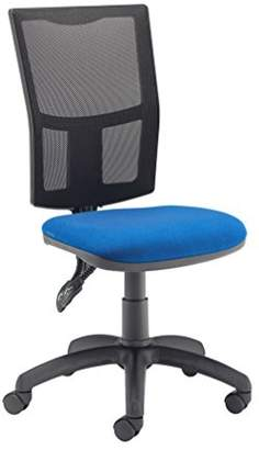 Camilla And Marc Office Hippo Mesh High Office Chair with Permanent Contact Back, Fabric, Royal Blue, 50 x 50 x 91 cm