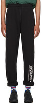 Vetements Black '100% Pro' Baggy Lounge Pants