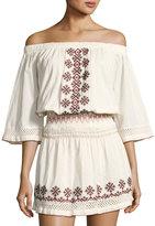 Tularosa Marietta Embroidered Dress, Ivory