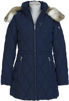 Nautica Hooded Microfiber Quilted Jacket