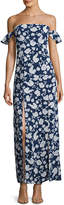 Lucca Couture Off-The-Shoulder Floral Maxi Dress, Blue/Multi