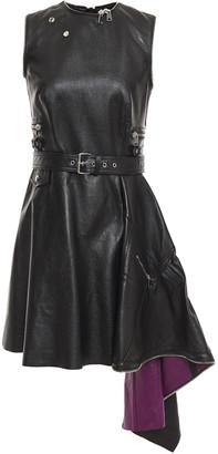 Alexander McQueen Draped Leather Mini Dress