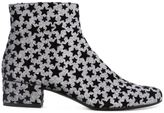 Saint Laurent star print boots - women - Polyester/Leather - 35
