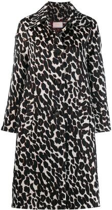 La DoubleJ Boxy Leopard Print Coat