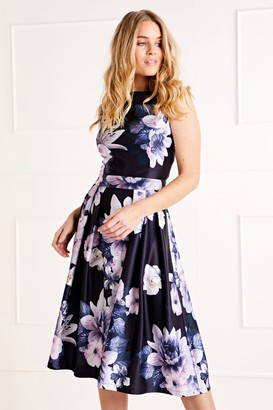 Yumi Floral Printed Prom Dress