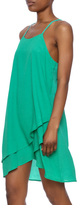 true light Green Slip Dress