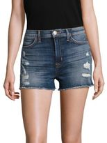 Hudson Soko High-Rise Distressed Cut-Off Denim Shorts