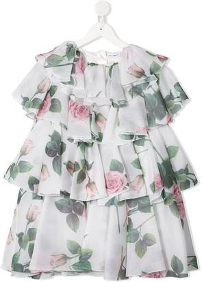 Dolce & Gabbana Kids Tiered Ruffle Dress