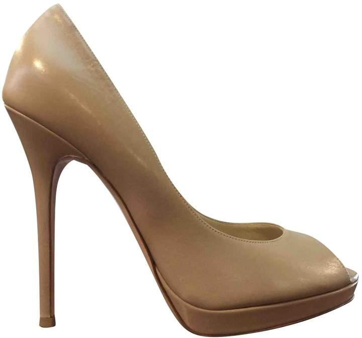 Jimmy Choo Beige Leather Heels