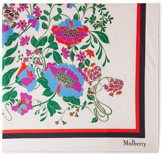 Mulberry Wildflower Duchesse Square Multicolour Silk Twill