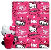 Hello Kitty NFL 49Ers Blanket and Hugger Bundle (40 x 50)