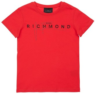 John Richmond Logo Printed Cotton Jersey T-shirt