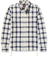 The Workers Club - Woven-Patchwork Cotton Shirt