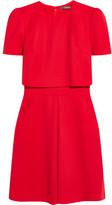 Alexander McQueen Layered Wool-crepe Mini Dress - IT38