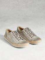 John Varvatos Suede Low Top Sneaker
