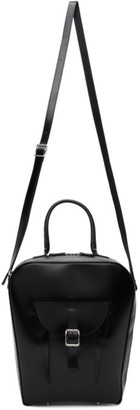 Junya Watanabe Black Leather Glass Shoulder Bag