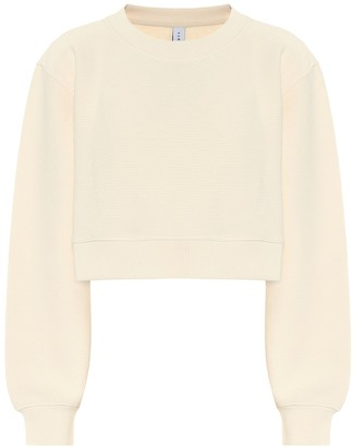 Varley Albata cotton-blend cropped sweatshirt