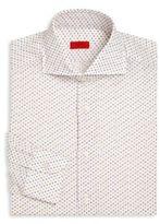 Isaia Floral Regular-Fit Dress Shirt