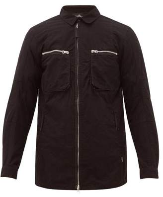 Stone Island Shadow Project - Zipped-pocket Technical Overshirt - Mens - Black