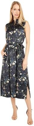 Vince Rose Field Popover Dress (Petal Glow) Women's Clothing