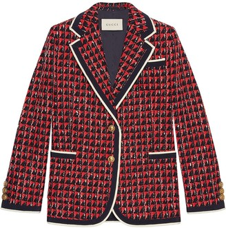 Gucci Geometric tweed jacket