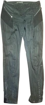 Pierre Balmain Grey Cloth Trousers for Women