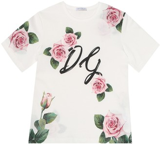 Dolce & Gabbana Floral cotton T-shirt