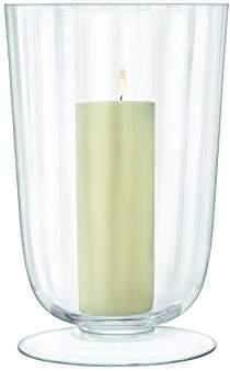 clear Light Fluted Storm Lantern H35cm Clear, 23 x 23 x 35 Cm