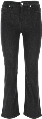 Love Moschino Flared Cropped Jeans