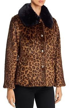 Kate Spade Leopard Print Faux Fur Coat