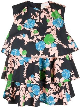 La DoubleJ Tosca floral-print blouse
