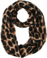 soul young Women's Leopard Print Infinity Scarf - Warm Cheetah Loop Circle Scarves