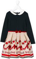 MonnaLisa embroidered skirt dress - kids - Cotton/Polyamide/Polyester/Viscose - 3 yrs