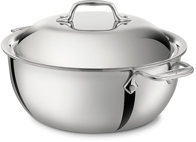 All-Clad Stainless Steel 5.5 Quart Chef Series Dutch Oven