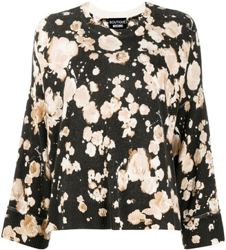 Boutique Moschino Floral Long-Sleeve Jumper