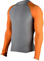HUGE SPORTS Hugesports Men's Splice UV Sun Protection UPF50+ Crew Neck Skins Rash Guard Long Sleeves
