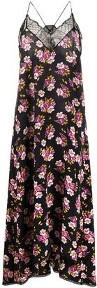 Zadig & Voltaire Floral Shift Maxi Silk Dress