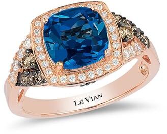 LeVian Chocolatier 14K Strawberry Gold 2.87 Ct. Tw. Blue Topaz Ring
