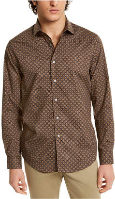 Tasso Elba Men Stretch Geo-Print Shirt