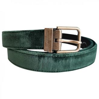 Dolce & Gabbana Green Velvet Belts