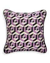 Jonathan Adler Purple 3D Bargello Hex Pillow