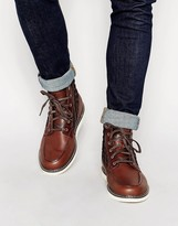 Timberland Newmarket Moc Toe Boots - Brown