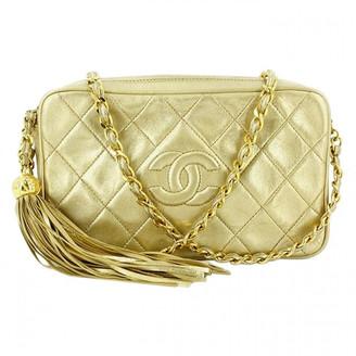 Chanel Camera Gold Leather Handbags